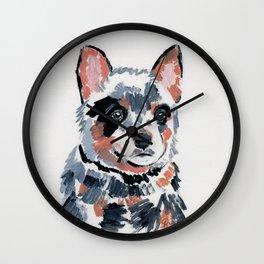 Blue Cattle Dog Wall Clock