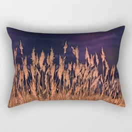 Abstract beach grass Rectangular Pillow