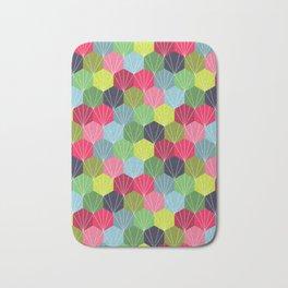 Geometric Hexie Honeycomb Colorful Bath Mat