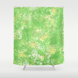 Yellow green spring Camo print Shower Curtain