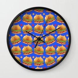 Kitty Burger Wall Clock