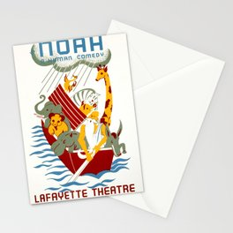 vintage travel poster la fayette theater Stationery Cards