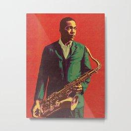 John William - Society6 Col trane Trending #Steve_On_The_Beach @Insta Jazz Art BLM 199k Metal Print