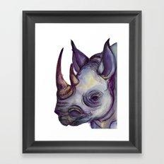 Rhino Blues Framed Art Print