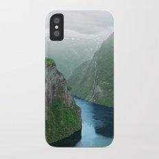 Mountains To The Sea (Geirangerfjord, Norway) iPhone X Slim Case