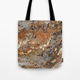 Earth Tones Lava Flow Tote Bag
