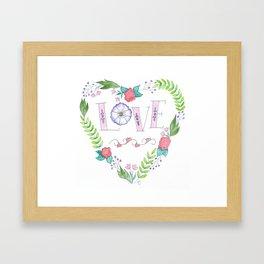 Heart of Love (multicolor) Framed Art Print