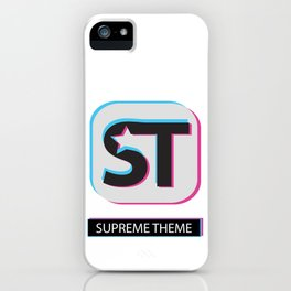 Supreme WordPress Theme iPhone Case