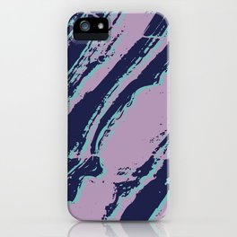 Lilac marble effect iPhone Case