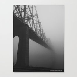 The Bridge and the Mist Canvas Print