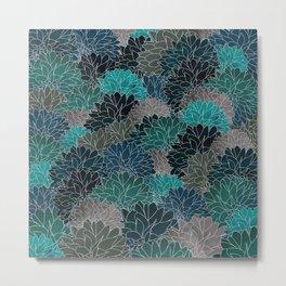 Hydrangea Haven - Emerald Metal Print
