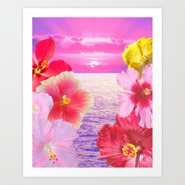 Hibiscus Sunrise Art Print