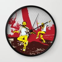 meditation Wall Clocks featuring Meditation by jnk2007