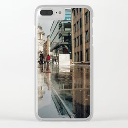 London and reflection Clear iPhone Case