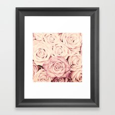 Some people grumble I Floral rose roses flowers pink Framed Art Print