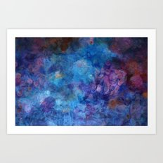 Blue Grotto Abstract Painting  Art Print