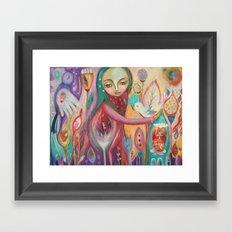 Life is sacred - inspirational art Framed Art Print