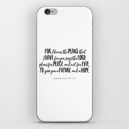 Jeremiah 29:11 - Bible Verse iPhone Skin