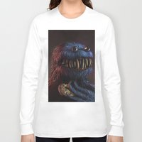cookie monster Long Sleeve T-shirts featuring Cookie Monster by Adrián Retana