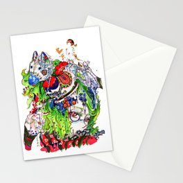 The rocking horse Stationery Cards
