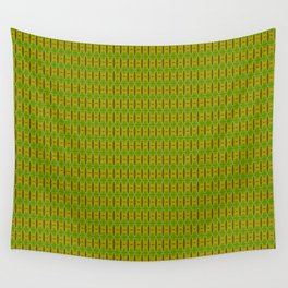 Heliconia Green Gold Stalks Pattern Wall Tapestry