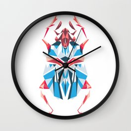 Poligon Scarab Wall Clock