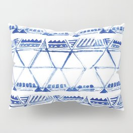 Tribal indigo pattern Pillow Sham