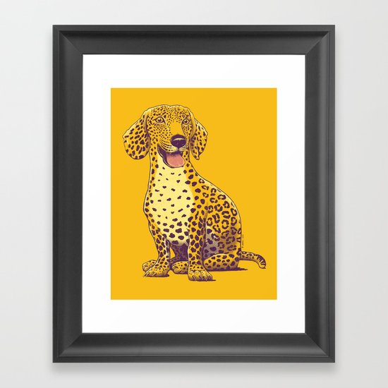 Take a Woof on the Wild Side! Framed Art Print