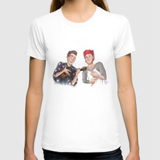 Twenty One Pilots LARGE Womens Fitted Tee White