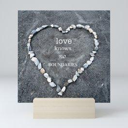 Love Knows No Boundaries Mini Art Print