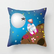rocket pig part 2 Throw Pillow