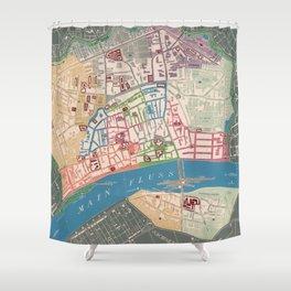 Vintage Frankfurt Germany Map (1844) Shower Curtain