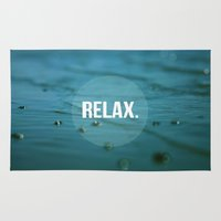 relax Area & Throw Rugs featuring RELAX by Jenny Ardell