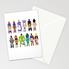 Superhero Power Couple Butts Stationery Cards