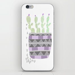 Potted Patterned Cacti iPhone Skin