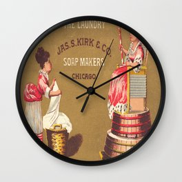 Vintage Poster - Queen of the Laundry Wall Clock