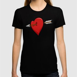 wounded heart T-shirt