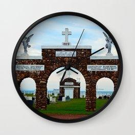 Mont Carmel Cemetery Entrance PEI Wall Clock