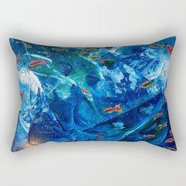 Rainbow Fish Swim, Environmental Tiny World Collection Rectangular Pillow