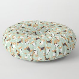 beagle scatter mint Floor Pillow