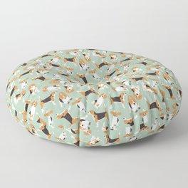 beagle scatter mint Floor Pillow