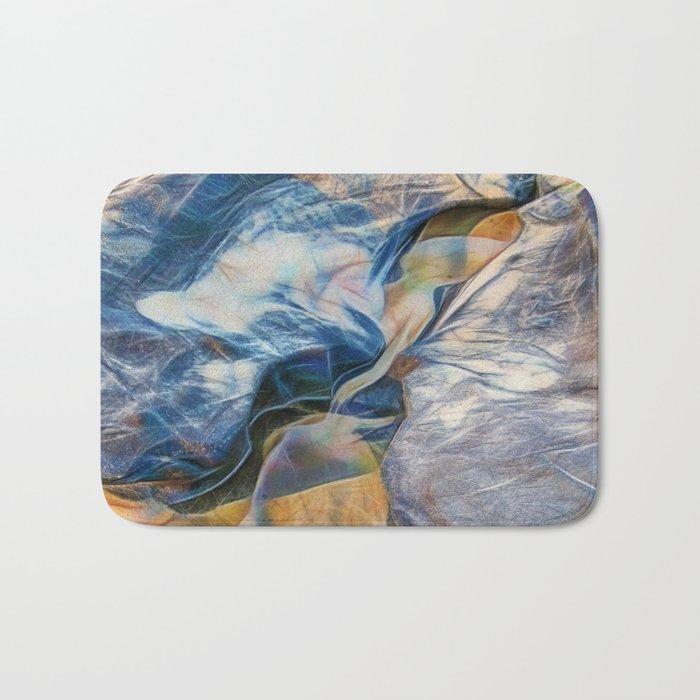 Abstract beautiful rocks on the sand Bath Mat