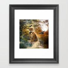 Wonderful tiger Framed Art Print