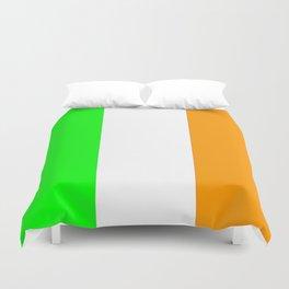 flag of ireland 5 -ireland,eire,airlann,irish,gaelic,eriu,celtic,dublin,belfast,joyce,beckett Duvet Cover