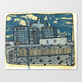 Atlanta From a Window Canvas Print