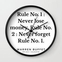 10  | Warren Buffett Quotes | 190823 Wall Clock