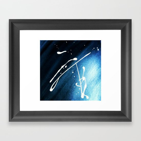Comet man Framed Art Print