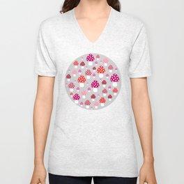 Mushroom pattern Unisex V-Neck