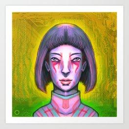 Tatau Tech Girl Debutante Art Print