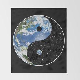 Earth / Space Yin Yang Throw Blanket